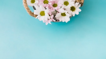 Floral composition with basket