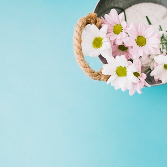 Floral composition with bucket