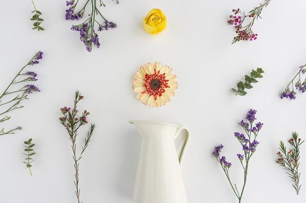 Floral composition with decorative vase