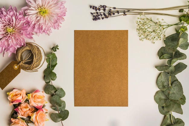 Floral decoration and cardboard sheet