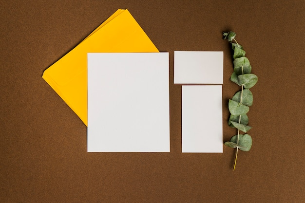 Floral decoration with three sheets of paper
