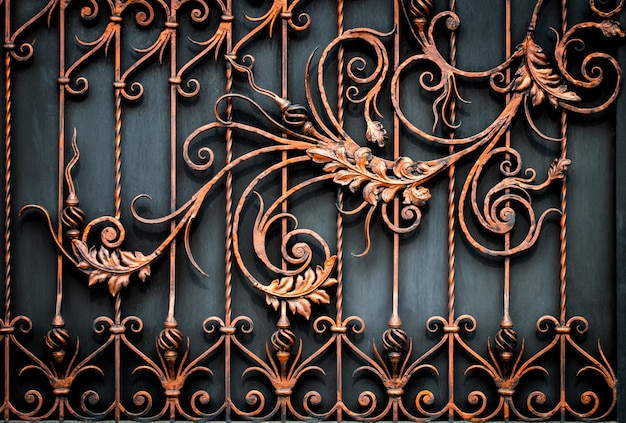 Floral decorative pattern, of forged made from metal.