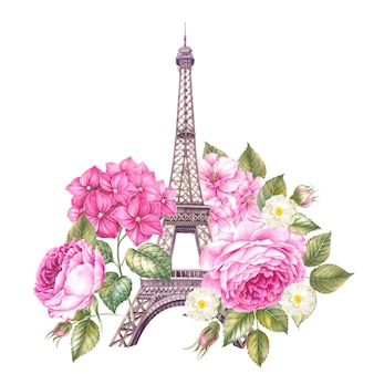 Floral eiffel tower