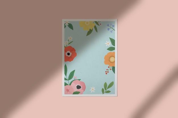 壁に花フレーム
