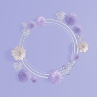Floral frames. floral wreath background