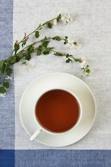 Floral fruity tea on the table
