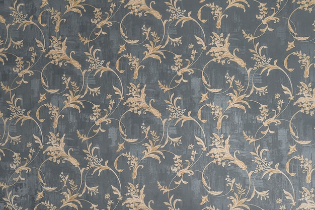 배경에 꽃 오래 된 레트로 빈티지 장식 벽지. 귀여운 장식 꽃 패턴입니다. 배경 벽 디자인. 빈티지 벽지