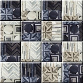Floral patterned marble floor and wall tiles. porcelain ceramic tile. element for interior design, background texture.