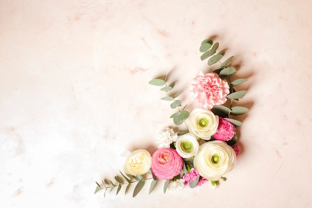 꽃 라운드 프레임
