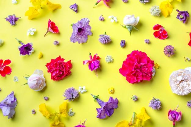 Цветочный фон - летние цветы микс