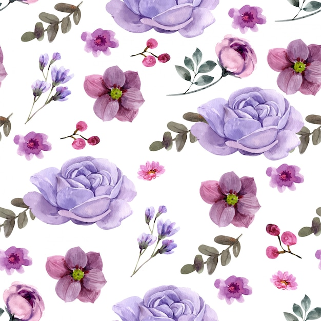 Floral seamless pattern.  premium vector