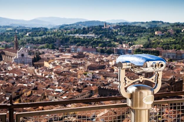 イタリア、フィレンツェ:ドゥオーモ教会の頂上からのパノラマビュー