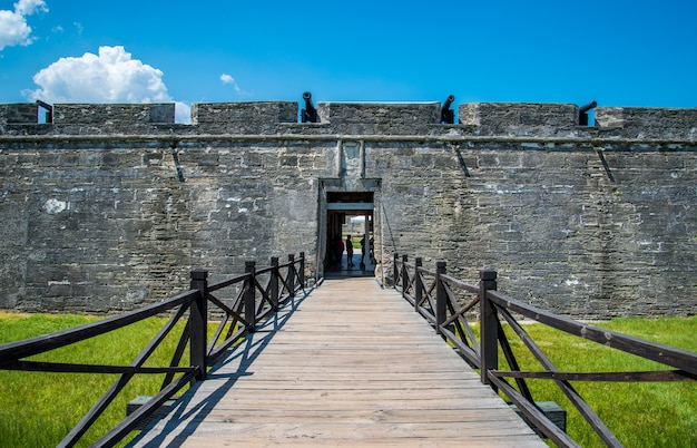 Florida at the castillo de san marcos national monument.