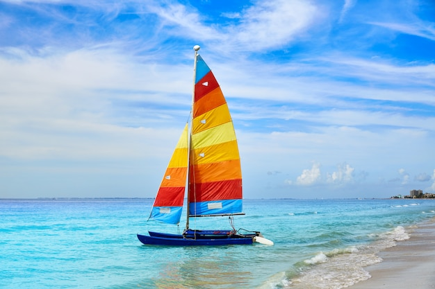 Florida fort myers beach sailboat in usa