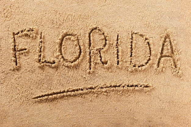 Florida summer beach writing message