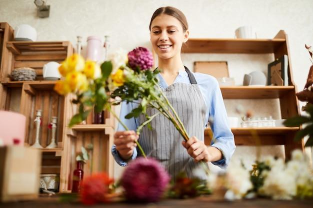 花を生ける花屋