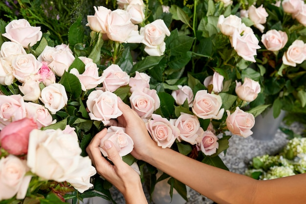 Florist buying flowers