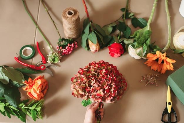 花屋のツールとアクセサリー