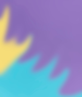 Flow of defocused yellow and blue color on purple background