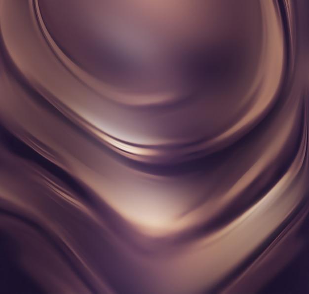 Поток жидкого шоколада в полноэкранном режиме в качестве фона