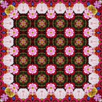 Flower background for packing paper, covers, fabric. a background from cultivated flowers, the top view.