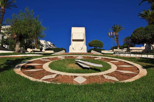 The flower clock in algeria city on mediterranean sea, algeria