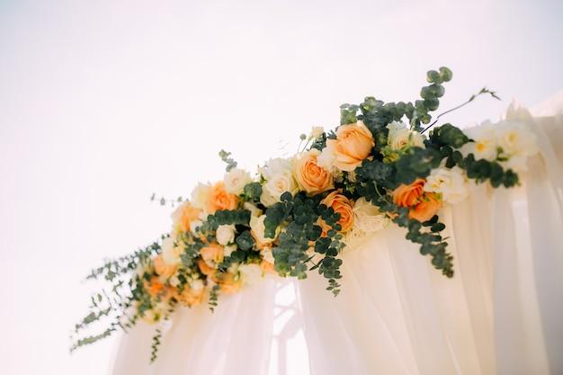 結婚式での花の構成
