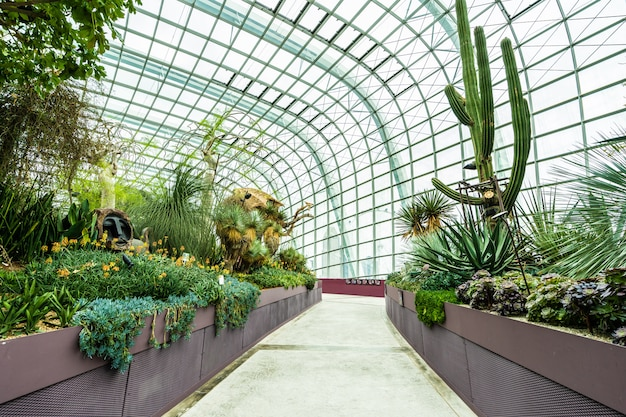 Flower dome garden and greenhouse forest for travel