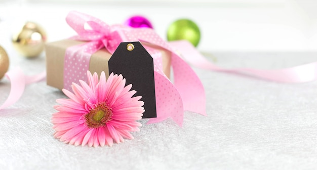 Flower and giftbox