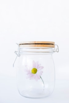 Flower in closed glass