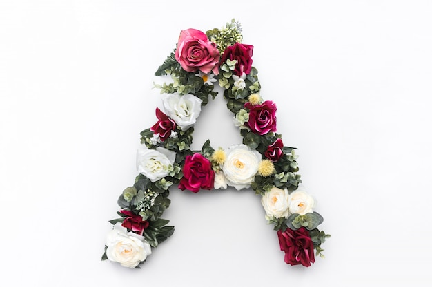 Flower letter a floral monogram free photo