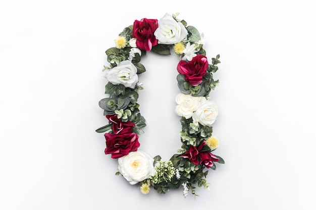 Flower letter o floral monogram free photo