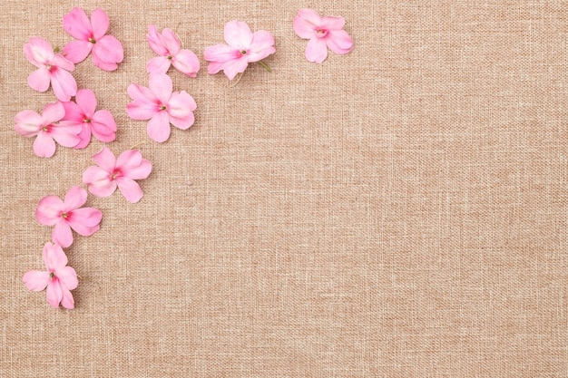 Flower and linen cloth