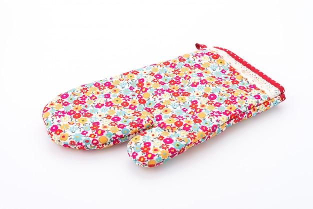 Цветочная варежка для перчаток на белом фоне
