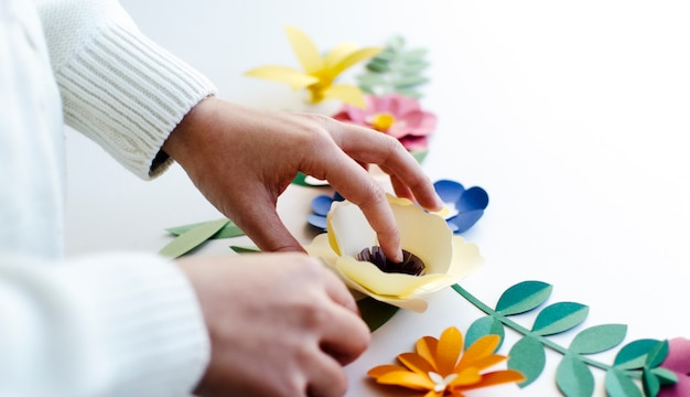 Flower paper craft handmade collection