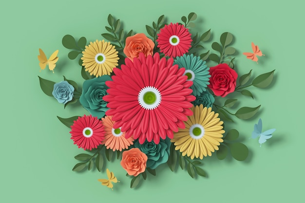 Flower paper style