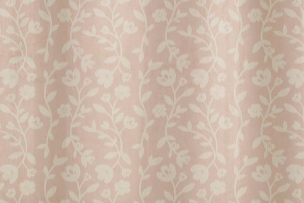 Flower pattern curtain background in pink