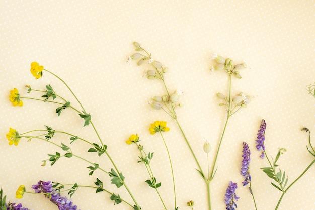 Flower pattern of wildflowers.