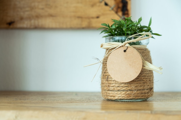 Flower pot on the table