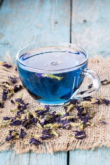Flower tea of butterfly pea