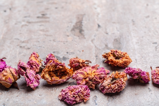 Flower tea rose buds