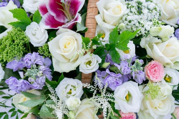 꽃 아름다운 꽃다발. 장식 꽃 자연 배경입니다.