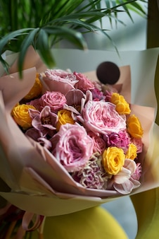 Flowers bouquet to arrange for decoration in the house