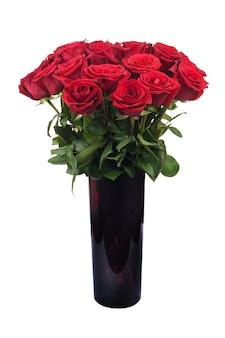 Букет цветов из красных роз изолированные
