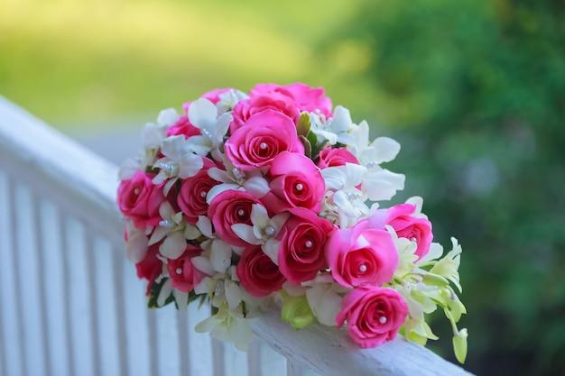 꽃 신부 꽃 배경 여자 결혼식, 패션,