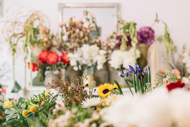 Flowers in florist store