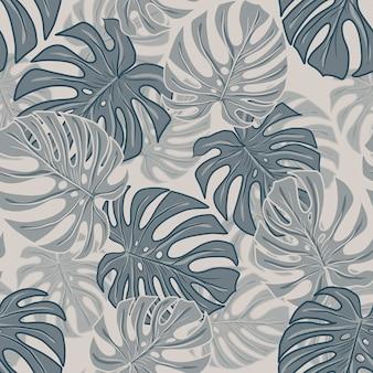 花はシームレスなパターンを残します花のモチーフフォークスタイル手描きイラスト咲く春のプリントテキスタイルヴィンテージ