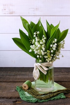 Flowers lily of the valley spring