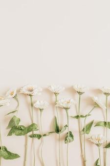 Flowers pattern on beige surface