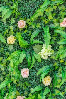 Flowers plant wall